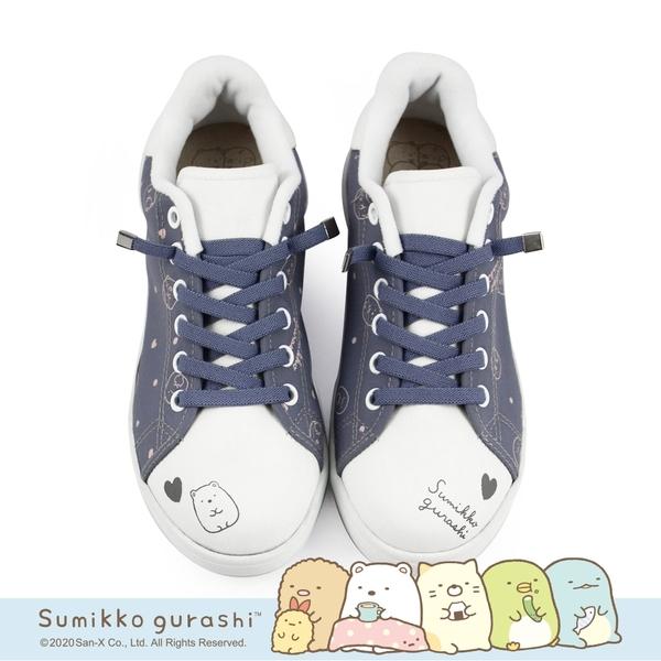 角落小夥伴 免綁帶休閒鞋不彎腰輕運動鞋-愛心灰藍