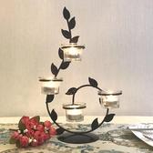 紓困振興 歐式鐵藝蠟燭台情人節浪漫創意家居飾品燭光晚餐婚慶聖誕裝飾擺件  東京衣秀