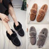 韓版毛毛鞋豆豆鞋雪地靴女加絨棉鞋2018冬季新款百搭防滑孕婦女鞋