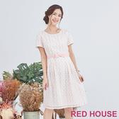 【RED HOUSE 蕾赫斯】透敷點點洋裝(共2色)