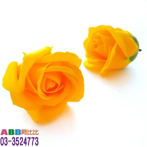A1307-10_玫瑰花頭_5.5cm_深黃#母親節康乃馨康乃馨花花束玫瑰花香皂花婚禮小物