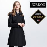 JORDON 女GORE-TEX長版時尚防水透氣單件式風衣1954黑