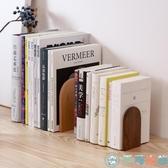 書立架木質簡約擋書夾書靠桌面書立辦公桌上【千尋之旅】
