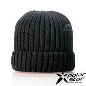 【PolarStar】中性 素色保暖帽『黑』P18602 羊毛帽 毛球帽 素色帽 針織帽 毛帽 毛線帽 帽子