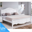 古典奢華風卡蘿白色5尺床台(18I20/...