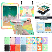 蘋果 iPad 9.7吋 2018 9.7吋 2017 Pro 9.7吋 Air2 蝴蝶支架 平板殼 平板保護套 支架 防摔 背帶 平板保護殼