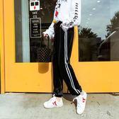 新款金絲絨運動褲女原宿bf風學生韓版寬鬆百搭秋季束腳哈倫褲 「千千女鞋」