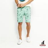 SISJEANS-綠色夏威夷風休閒五分褲【1617200307】