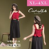 大碼仙杜拉-中大尺碼不規則口袋雪紡裙 XL-4XL碼 ❤【OLR719】(預購)