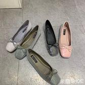 平底鞋 仙女本仙啊!閃片珠片 蝴蝶結柔軟舒適 平底鞋單鞋女 芭蕾舞鞋 米蘭shoe