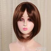 假髮 新品假發女短發栗色學生頭仿真頭皮玫瑰內網頭套 原本良品