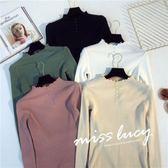 中大尺碼針織L-4XL大碼女裝時尚減齡韓版收腰遮肉顯瘦中長款外套4F034-A.0401韓依紡