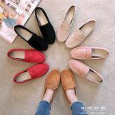 春秋季韓版孕婦社會懶人一腳蹬軟底單鞋女豆豆鞋百搭平底鞋夏 可可鞋櫃