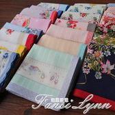 日本女士印花全棉柔軟輕薄吸汗小清新手帕文藝可愛手絹腕巾純 范思蓮恩