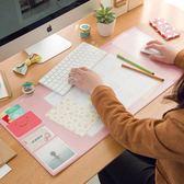 滑鼠墊韓國超大號創意電腦辦公桌墊書桌墊滑鼠墊可愛游戲桌面 曼莎時尚