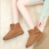 雪靴 雪地靴女2020冬季新款韓版加絨加厚保暖百搭短筒棉靴子