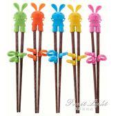 寶寶學習筷子寶寶餐具兒童學習筷訓練筷練習筷子嬰幼兒實木頭筷勺叉套裝 果果輕時尚