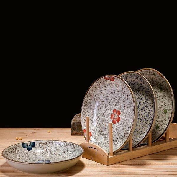 新年鉅惠 日式釉下彩餐具陶瓷盤子牛排盤酒店創意西餐餐盤菜盤家用魚盤碟子