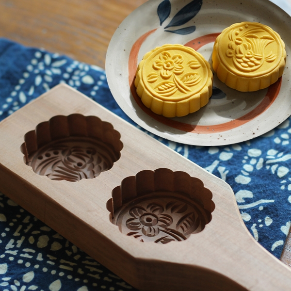 月餅饅頭南瓜餅干清明果綠豆糕點心餅印面食品木質青團子烘焙模具