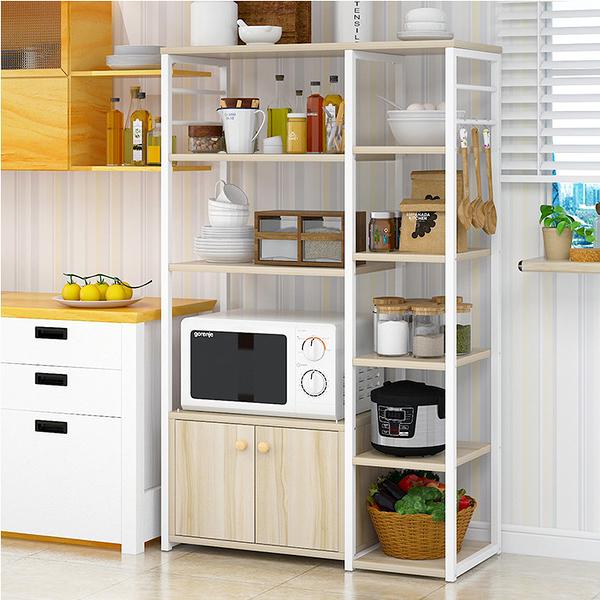 多層落地置物架微波爐架 廚房置物架 廚房收納架 廚房收納櫃《YV9754》快樂生活網