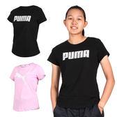 PUMA 女基本系列短袖T恤(短T 短袖上衣 慢跑 路跑 免運 ≡排汗專家≡