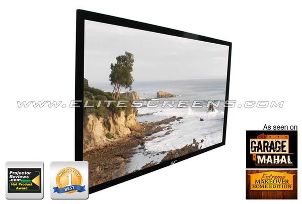 Elite Screens 106吋 R106WH1 頂級加大固定框架幕-4K劇院雪白 比例16:9
