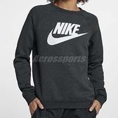 Nike 大學Tee Rally Crew 黑 白 雪花 女款 長T 長袖上衣 【ACS】 930906-032