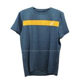 (B3) ASICS 亞瑟士男短袖T恤 K12046-45 藍綠 排汗衫 排汗T恤 慢跑 [陽光樂活]