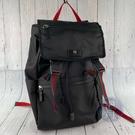 BRAND楓月 GUCCI 古馳 450982 虎頭黑後背包 書包 登山包 電腦包 帆布材質 紅綠織帶 大容量 萬用百搭