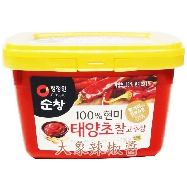 韓國順昌 大象辣椒醬(500g) 製做涼拌或燒烤等料理都少不了它 韓國原裝進口 韓式料理必備