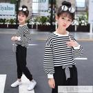 女童春裝套裝2021新款韓版潮衣洋氣時尚童裝中大童女兒童兩件套 韓慕精品