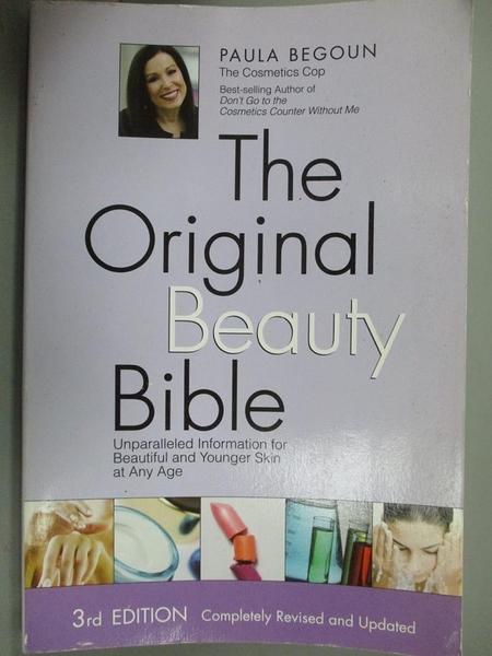 【書寶二手書T6/美容_EIY】The Original Beauty Bible: Unparalleled Info