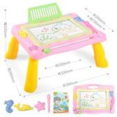 兒童畫畫板桌磁性寫字板寶寶玩具1-3歲2幼兒彩色大號涂鴉板可拆卸  無糖工作室
