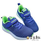 【樂樂童鞋】GOODYEAR 童款輕量緩震運動鞋-藍 G021-1 - 男童鞋 運動鞋 布鞋 球鞋 大童鞋 跑步鞋