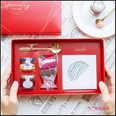 乾燥花Tea Time禮盒(杯墊隨機10款) 結婚 喝茶回禮 婚禮 拜訪客戶 伴手禮 情人節禮物 母親節禮物