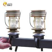 2個室外復古太陽能欄桿燈家用陽檯燈馬燈LED露台花園庭院燈 智聯