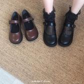 日繫娃娃鞋女春夏季新款復古圓頭學院風搭扣小皮鞋loli 『洛小仙女鞋』