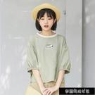 春夏季短袖t恤女學生韓版五分袖ins寬鬆BF百搭斑馬印花中袖上衣服 夢露時尚