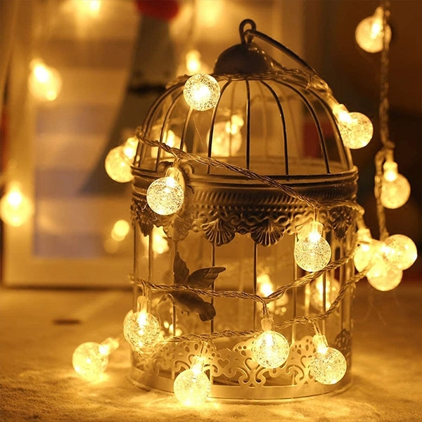 【BlueCat】LED氣泡球小燈串 (6米40燈) 室內裝飾 拍照道具 拍攝背景