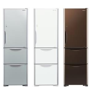 【HITACHI 日立】394L 三門琉璃變頻冰箱 RG41A琉璃白