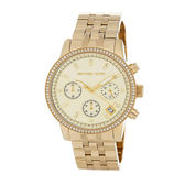 【MICHAEL KORS】37mm金面羅馬數字指針三眼腕錶 MK5698