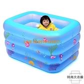 游泳池充氣幼兒童寶寶洗澡桶加厚折疊室內戲水池【時尚大衣櫥】
