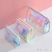 化妝包女2020新款小號便攜大容量簡約韓國可愛隨身防水透明洗漱包 藍嵐