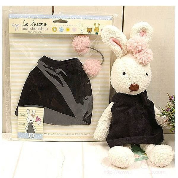 【發現。好貨】日本正品 le sucre 砂糖兔 法國兔娃娃 (黑裙子45公分)
