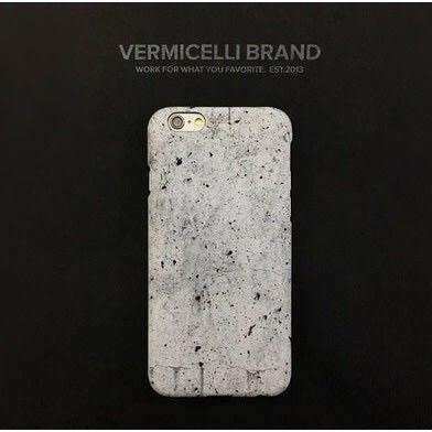 iPhone手機殼 韓國原創文藝水泥牆 磨砂硬殼半包 蘋果iPhone7/iPhone6 手機殼