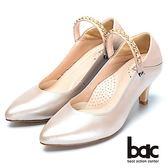 【bac】巧思設計-兩用穿搭真皮高跟鞋-粉紅色