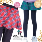 (大童款-女)學院色彩菱格紋內搭褲裙-2色(可搭300354上衣)(300358)【水娃娃時尚童裝】