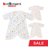 日本製 新生兒寶寶全棉綁帶內衣蝴蝶衣(卡通造型)HOT BISCUITS 【MIKIHOUSE】70-2302-781