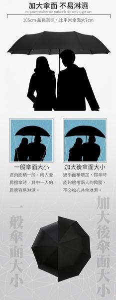 現貨!商務 十骨自動傘 加大 堅固防風 摺疊雨傘 自動折疊傘 晴雨傘 黑膠傘 防曬遮陽 #捕夢網