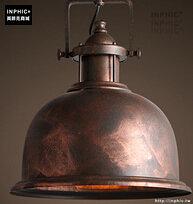 INPHIC- 工業風格復古吊燈美式創意咖啡館酒吧吧台鍋蓋鳥籠單頭吊燈-S款_S197C